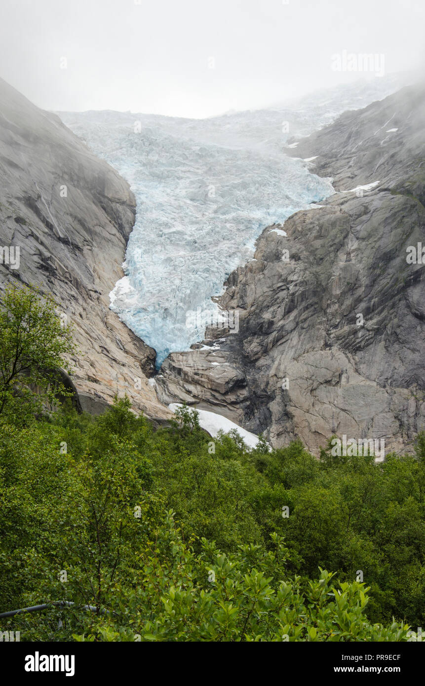 Norway - Briksdal glacier - Jostedalsbreen National Park - Europe travel destination - Stock Image