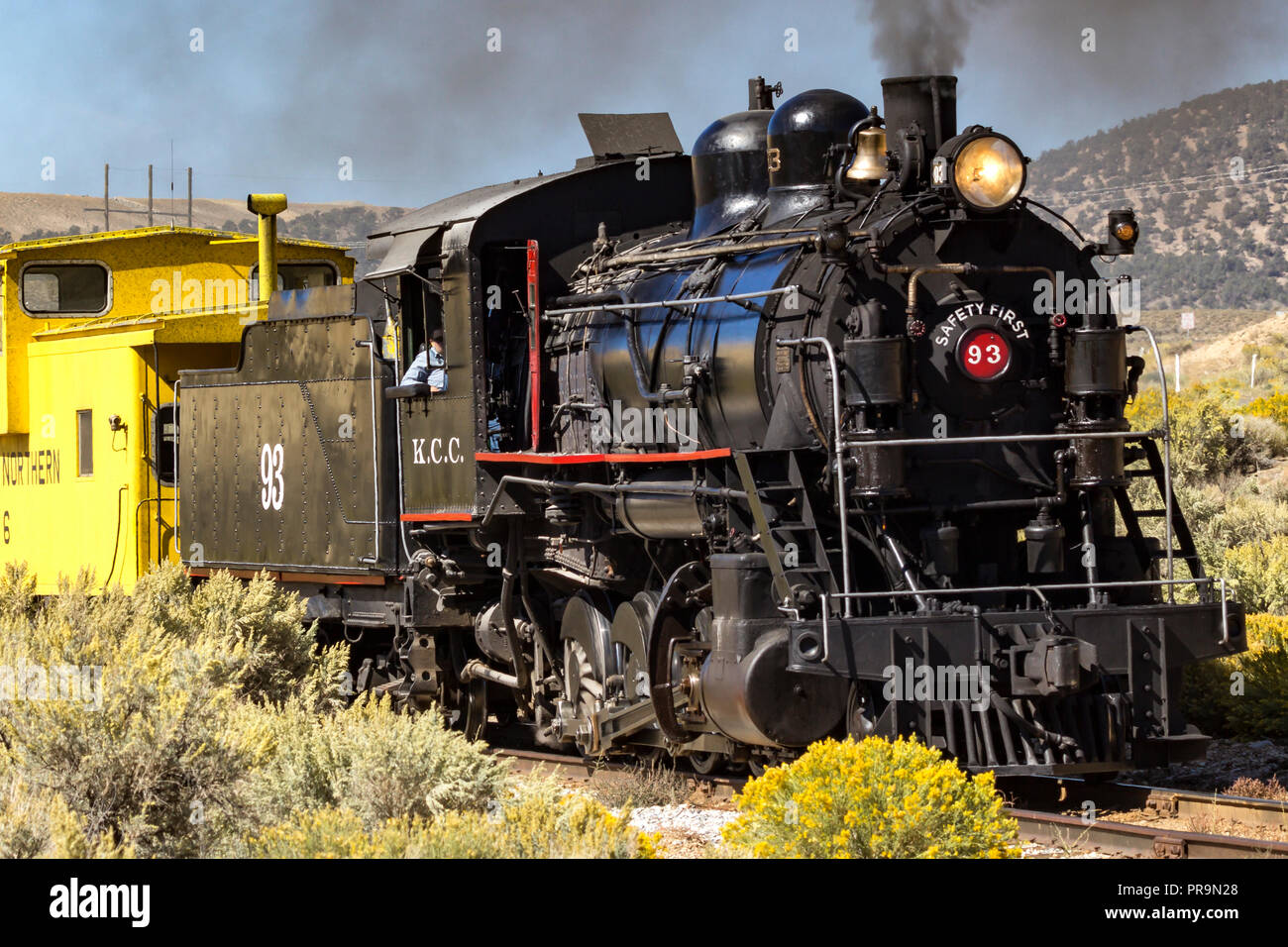 Former Kennecot Copper Corporation Steam Locomotive An Alco 2 8 0 Built In 1909 Is Now Operated By Nevada Northern Railway Museum In Ely Nevada Stock Photo Alamy