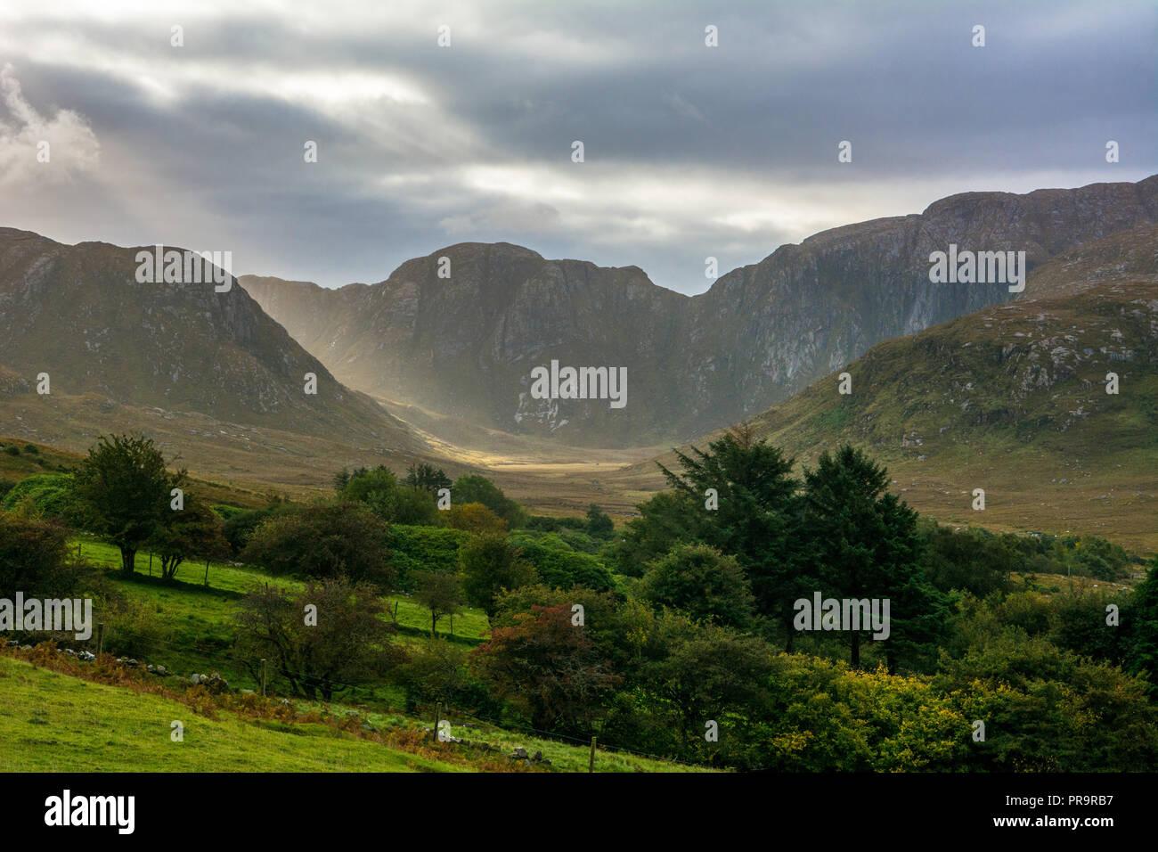 The Poisoned Glen Dunlewey Gweedore Ireland Europe - Stock Image