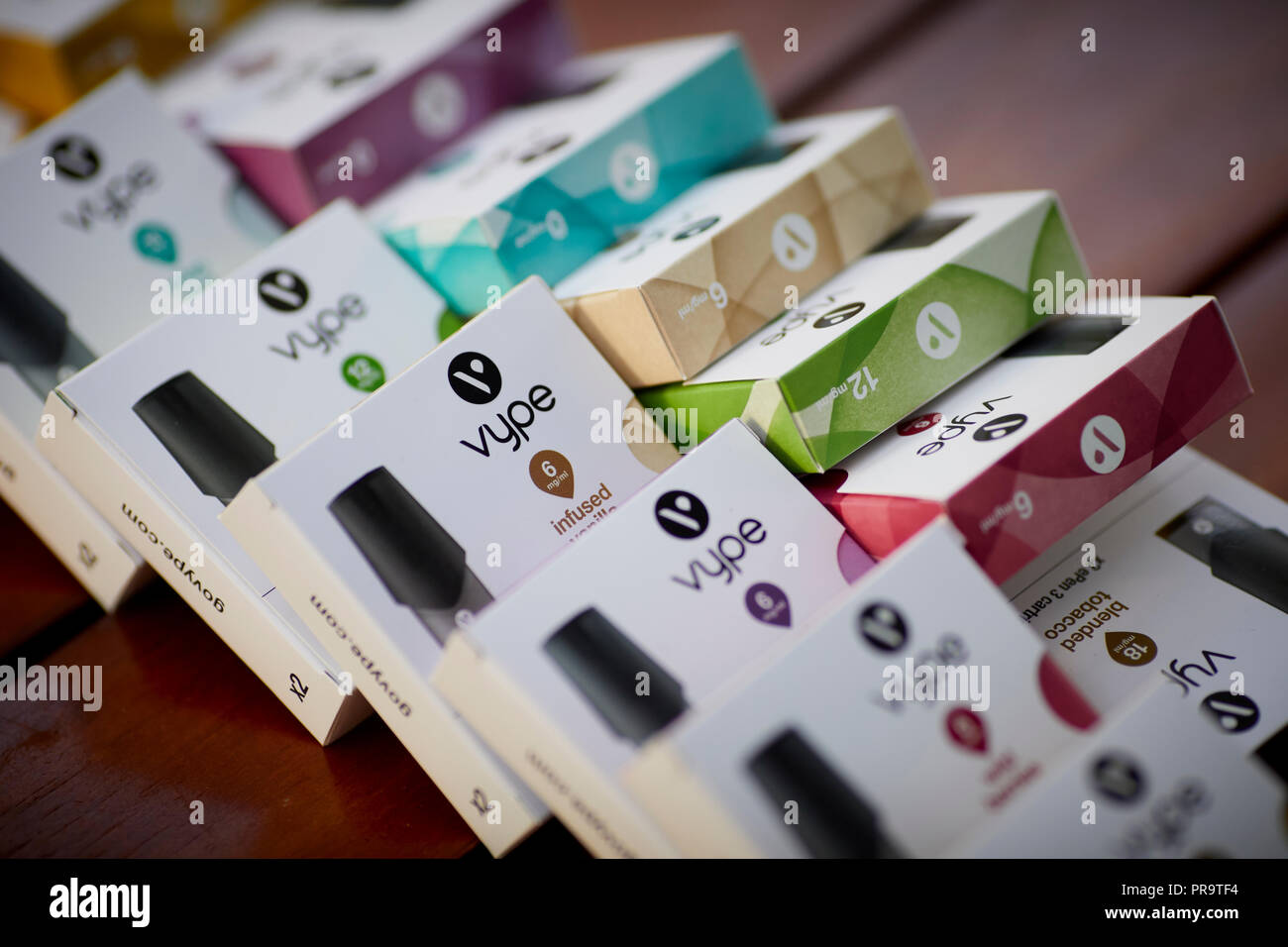 smoking Vape ePen 3 boxes packaging - Stock Image