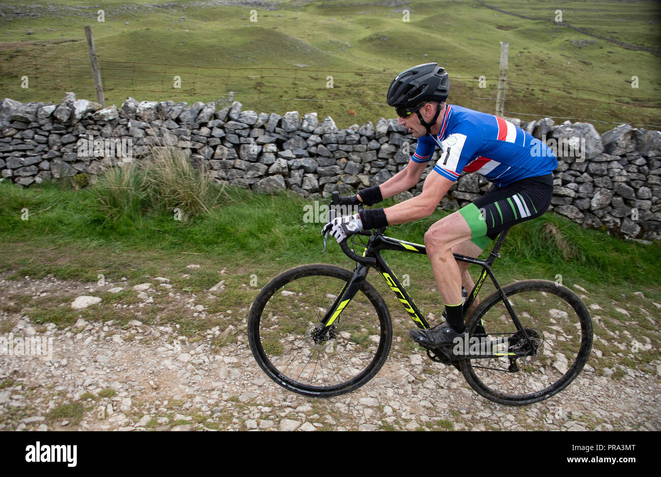 3 Peaks Cyclocross, Yorkshire Dales, UK. - Stock Image