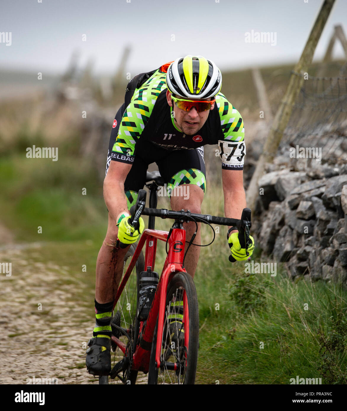 3 Peaks Cyclocross, Yorkshire Dales, UK. - Stock Image