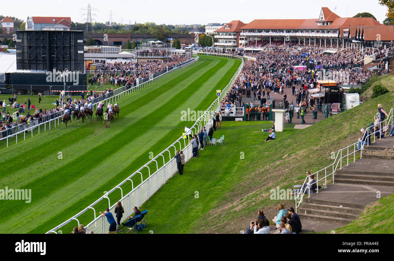 Chester races, September 2018, a great day out! - Stock Image