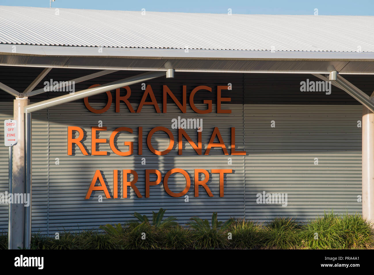 Orange Regional Airport is located in the Central Tablelands region of New South Wales between the city of Orange and the town of Blayney in Australia - Stock Image