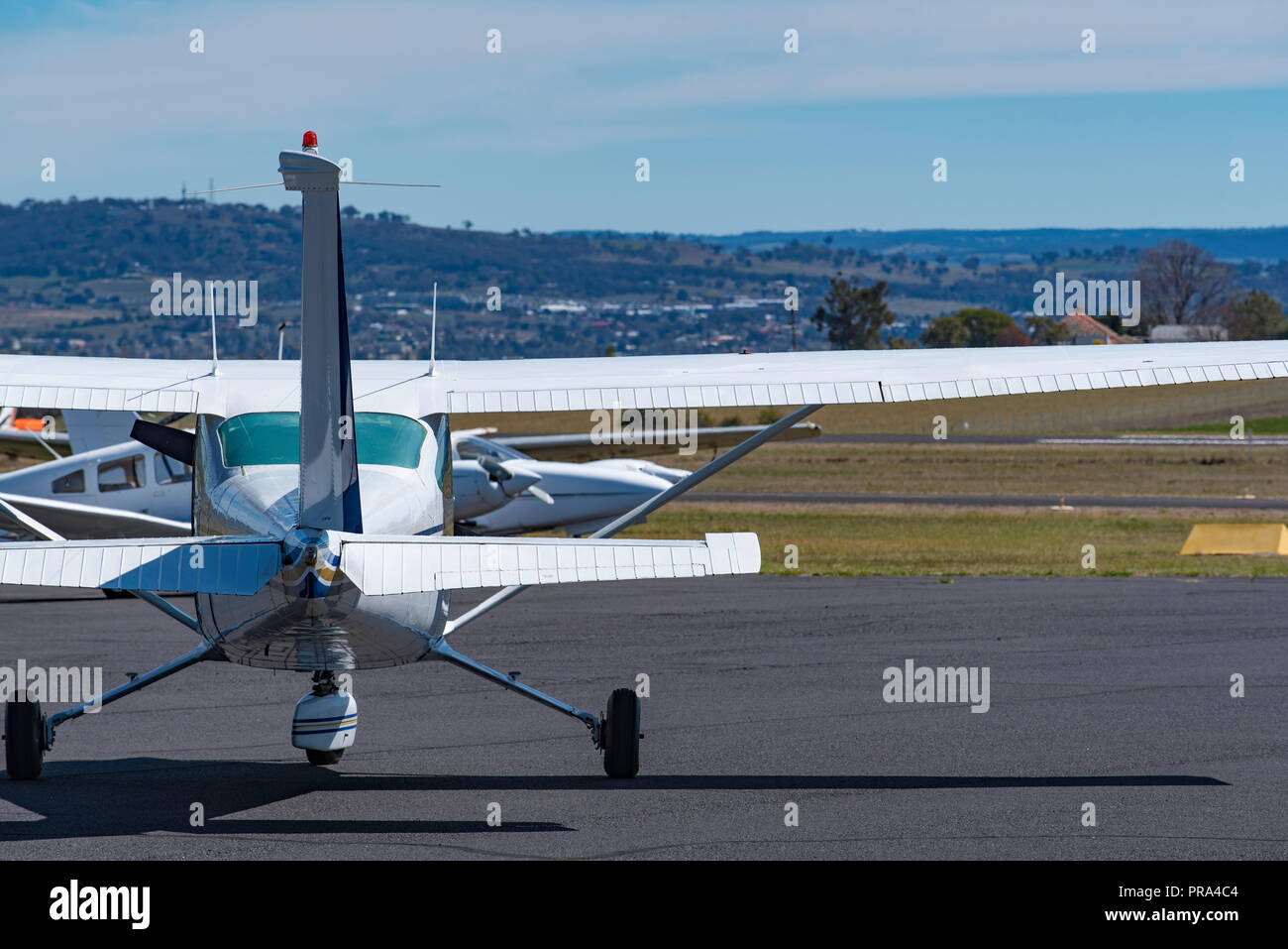Bathurst Airport opened in 1942 taking excess aircraft from Richmond Air Force Base, today it is used by Regional Air Express and local privateers - Stock Image