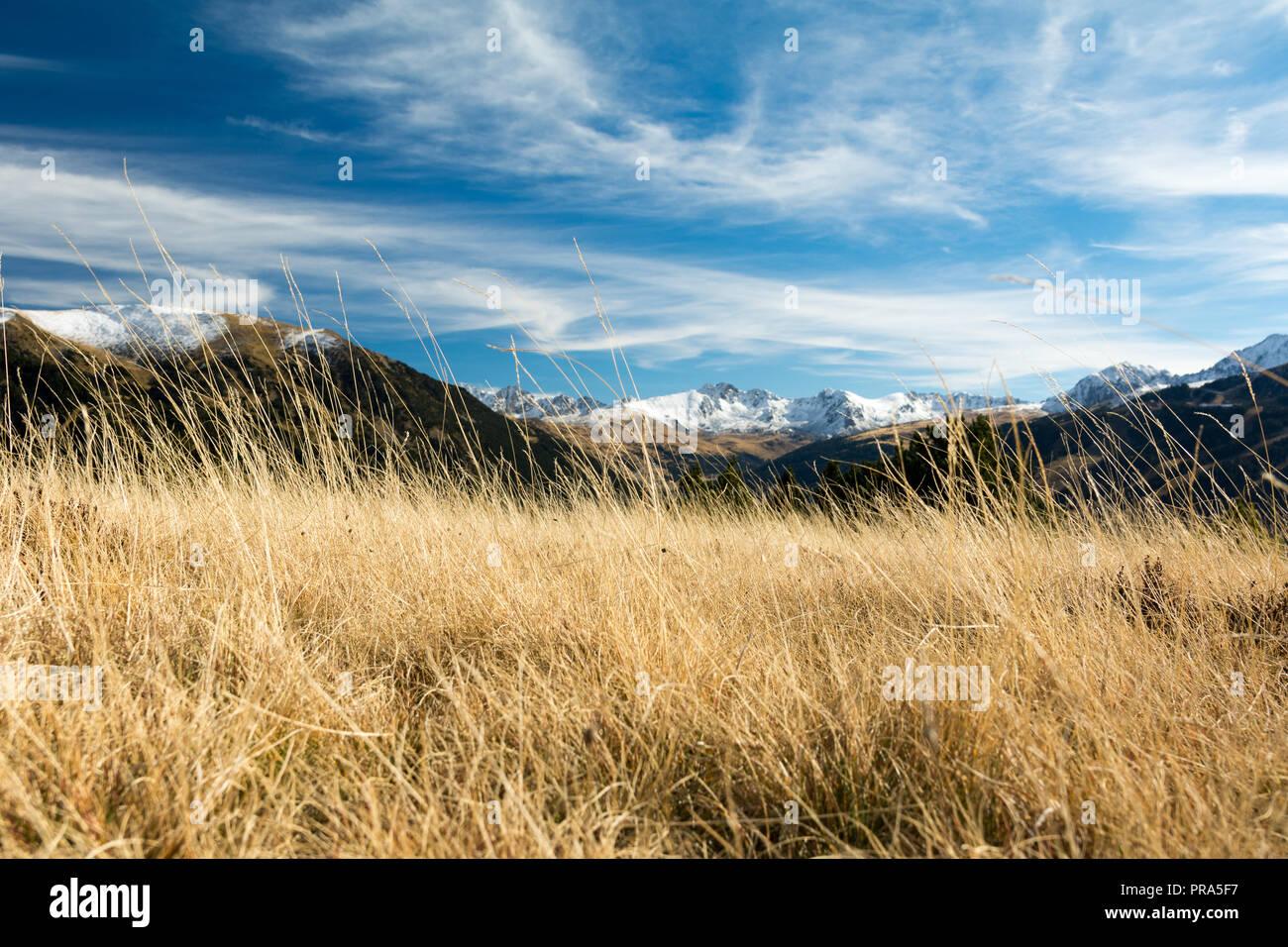 Pueblo del El Tarter en Canillo, Andorra. Otoño - Stock Image