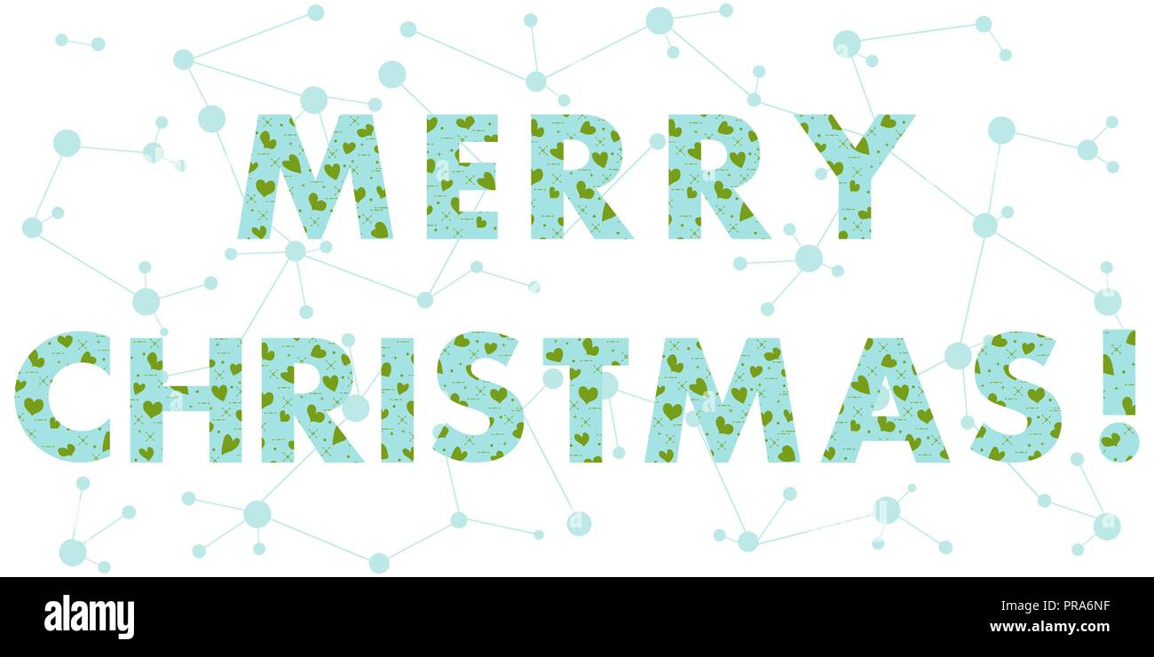 Christmas card with the inscription. The message is decorated with ...