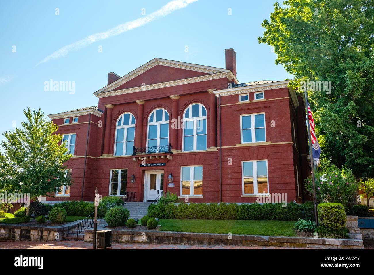 Old Rockbridge County Courthouse, 2 South Main Street, Lexington, Virginia - Stock Image