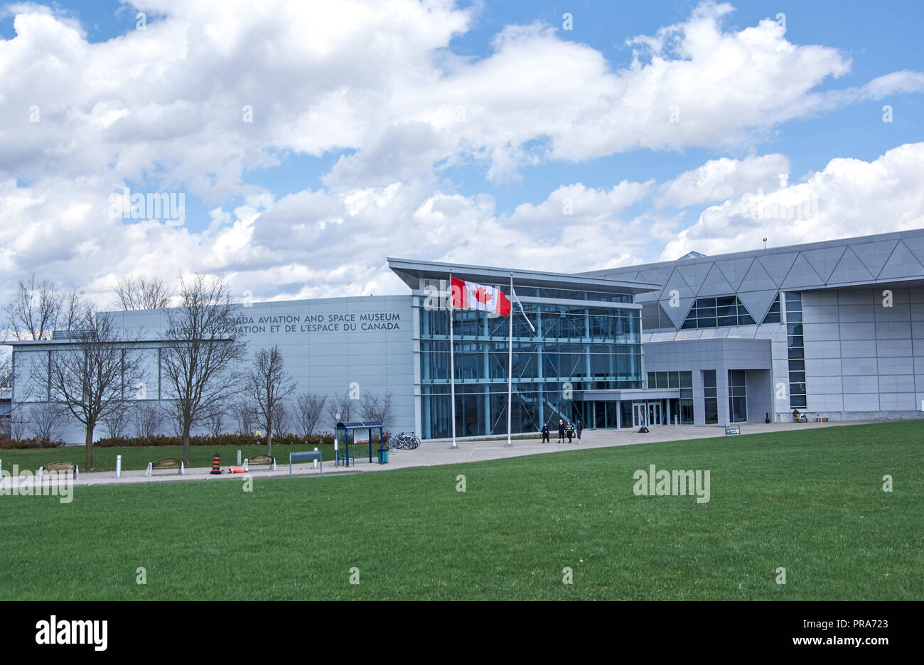 OTTAWA, CANADA - MAY 5, 2018: Canadian Aviation and Space Museum. The Canada Aviation and Space Museum is Canada's national aviation history museum lo - Stock Image