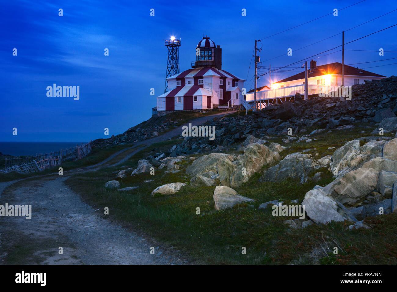 Cape Bonavista Lighthouse, Newfoundland. Bonavista, Newfoundland and Labrador, Canada. - Stock Image