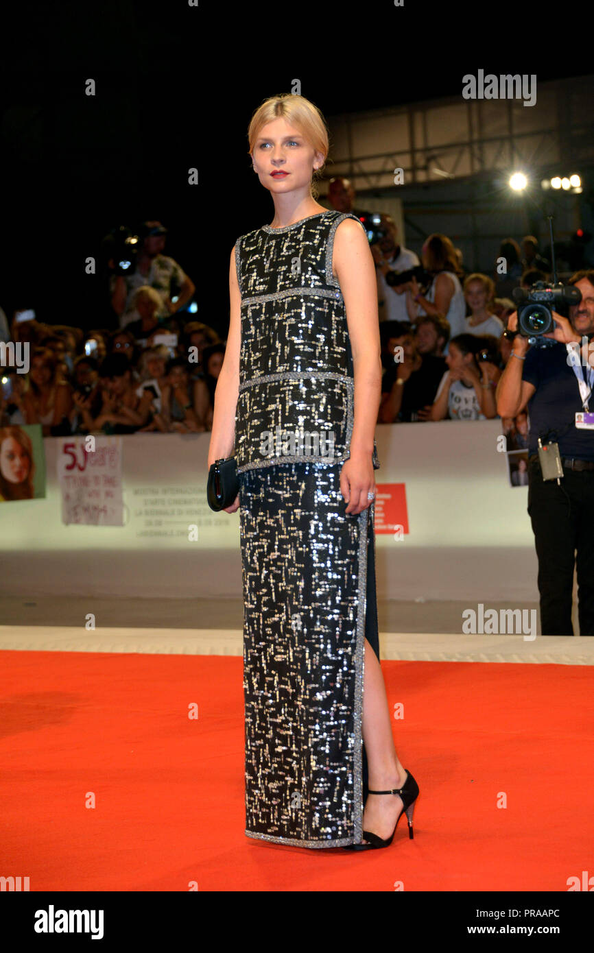 75th Venice International Film Festival - 'The Favourite' - Premiere  Featuring: Clemence Poesy Where: Venice, Italy When: 30 Aug 2018 Credit: IPA/WENN.com  **Only available for publication in UK, USA, Germany, Austria, Switzerland** - Stock Image