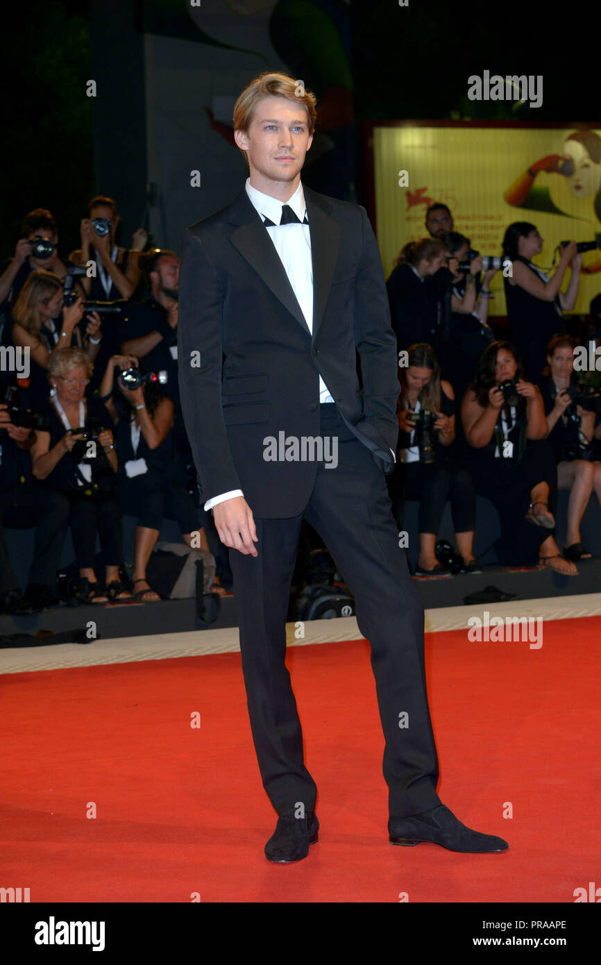 75th Venice International Film Festival - 'The Favourite' - Premiere  Featuring: Joe Alwyn Where: Venice, Italy When: 30 Aug 2018 Credit: IPA/WENN.com  **Only available for publication in UK, USA, Germany, Austria, Switzerland** - Stock Image