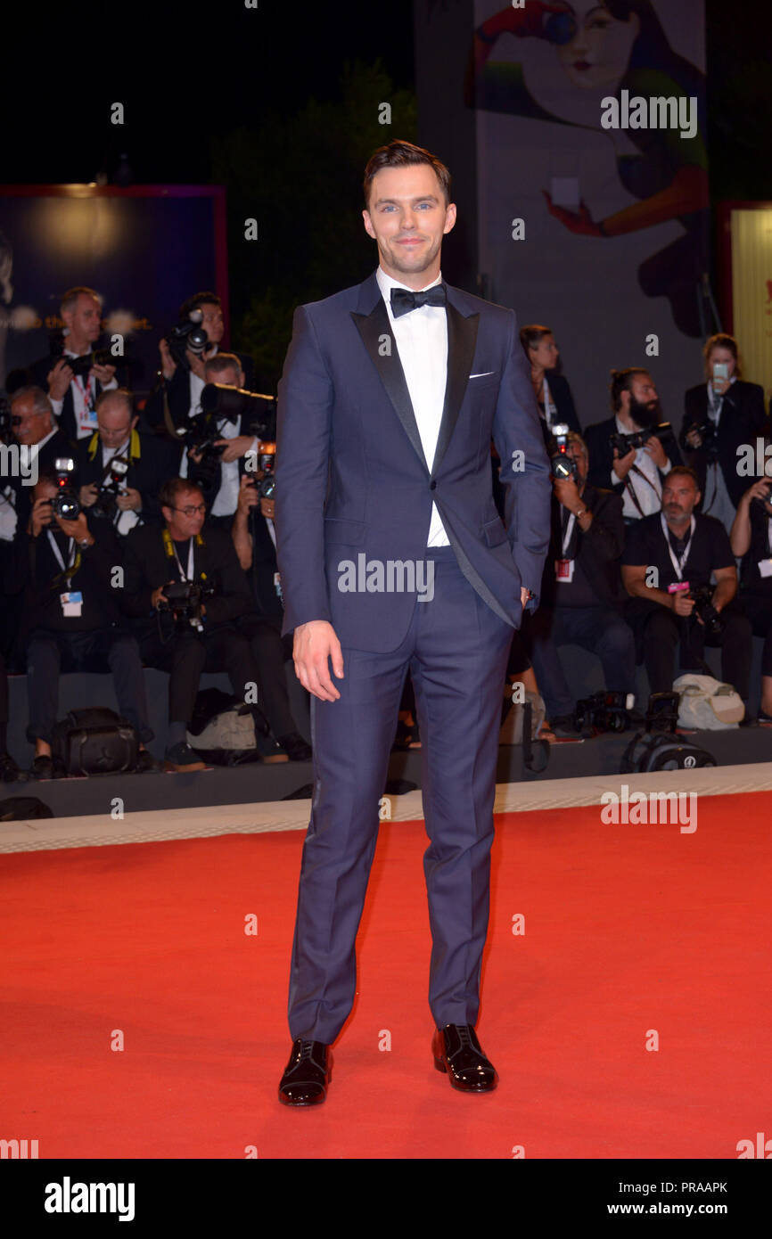 75th Venice International Film Festival - 'The Favourite' - Premiere  Featuring: Nicholas Hoult Where: Venice, Italy When: 30 Aug 2018 Credit: IPA/WENN.com  **Only available for publication in UK, USA, Germany, Austria, Switzerland** - Stock Image