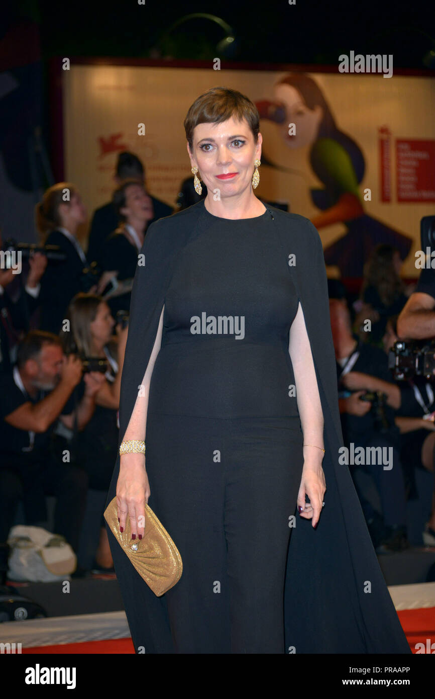 75th Venice International Film Festival - 'The Favourite' - Premiere  Featuring: Olivia Colman Where: Venice, Italy When: 30 Aug 2018 Credit: IPA/WENN.com  **Only available for publication in UK, USA, Germany, Austria, Switzerland** - Stock Image