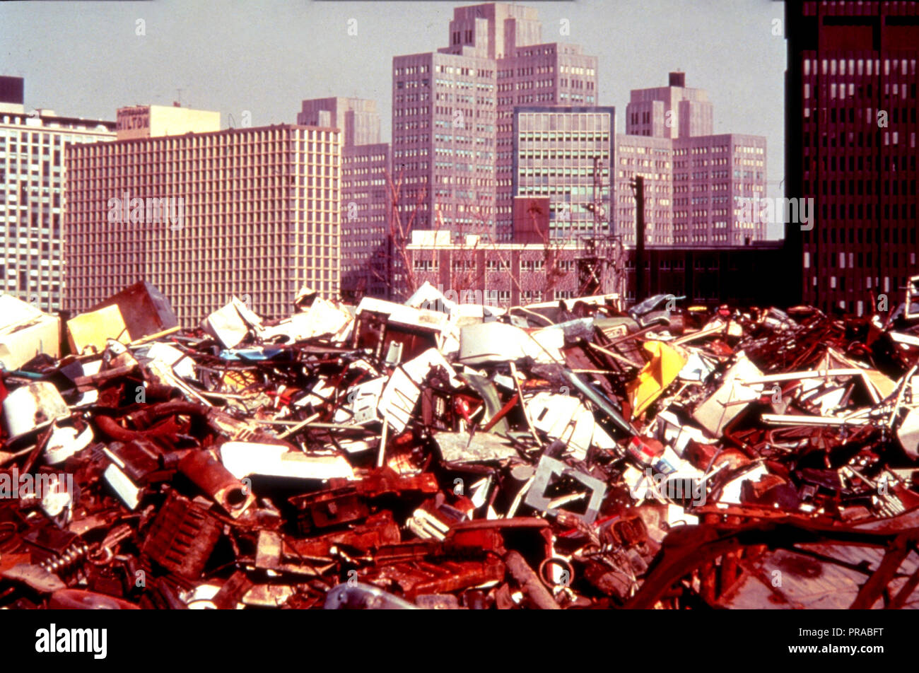 ca. 1998-1999 - trash dump in a major U.S. City - Stock Image