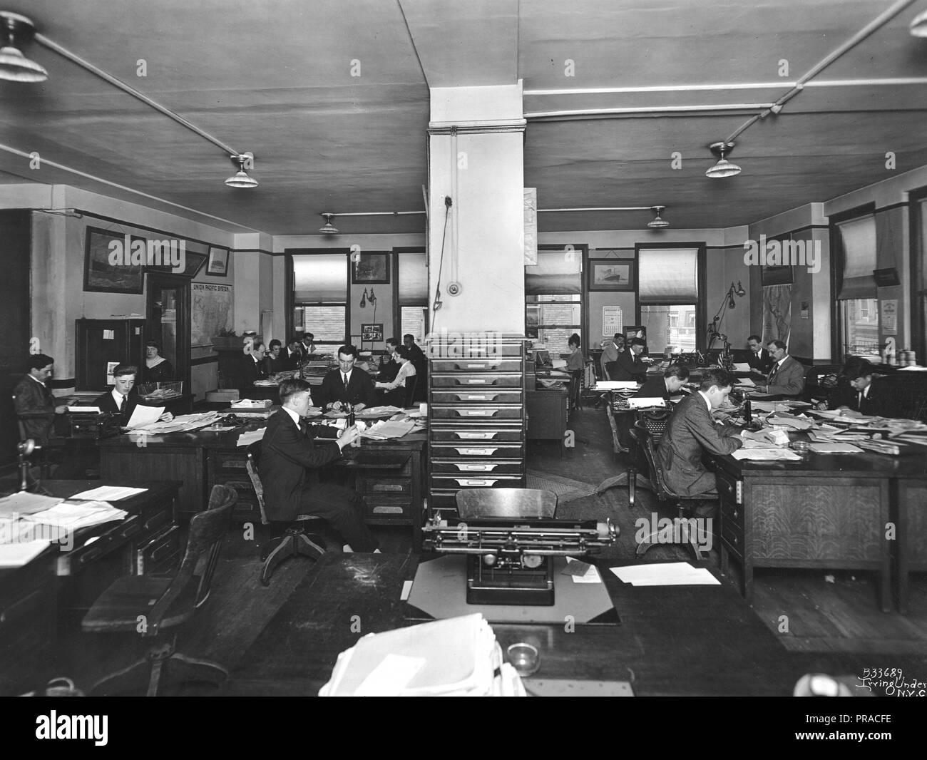 1918 Alien Property Custodian - Property Seized - Gerhard & Hey Inc. New York taken over by the Alien Property Custodian. The Office of the Concern - Stock Image