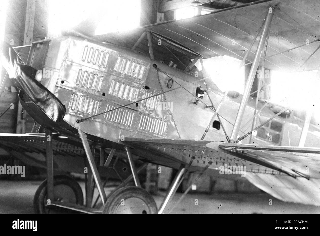 11/1/1918 - Front view of French Brequet Airplane, Mineola, L.I - Stock Image