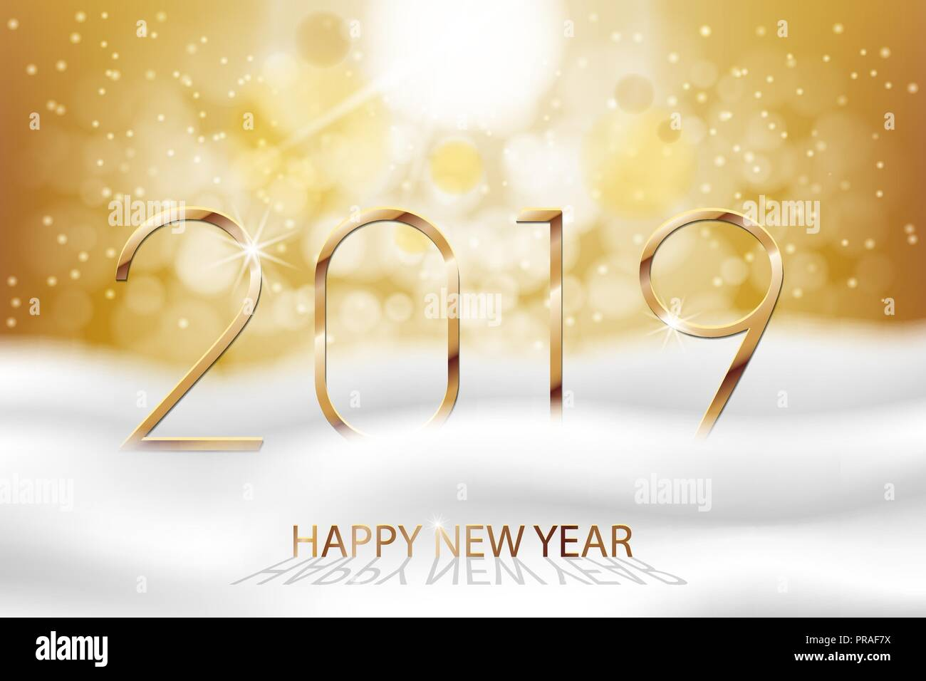 Vector Happy New Year 2019 New Year Colorful Winter Background
