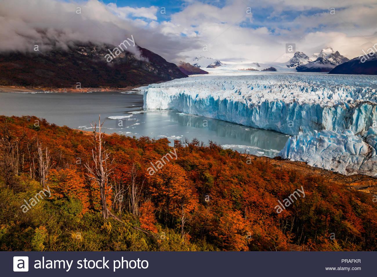 Glacier Perito Moreno National Park in autumn. Argentina, Patagonia - Stock Image