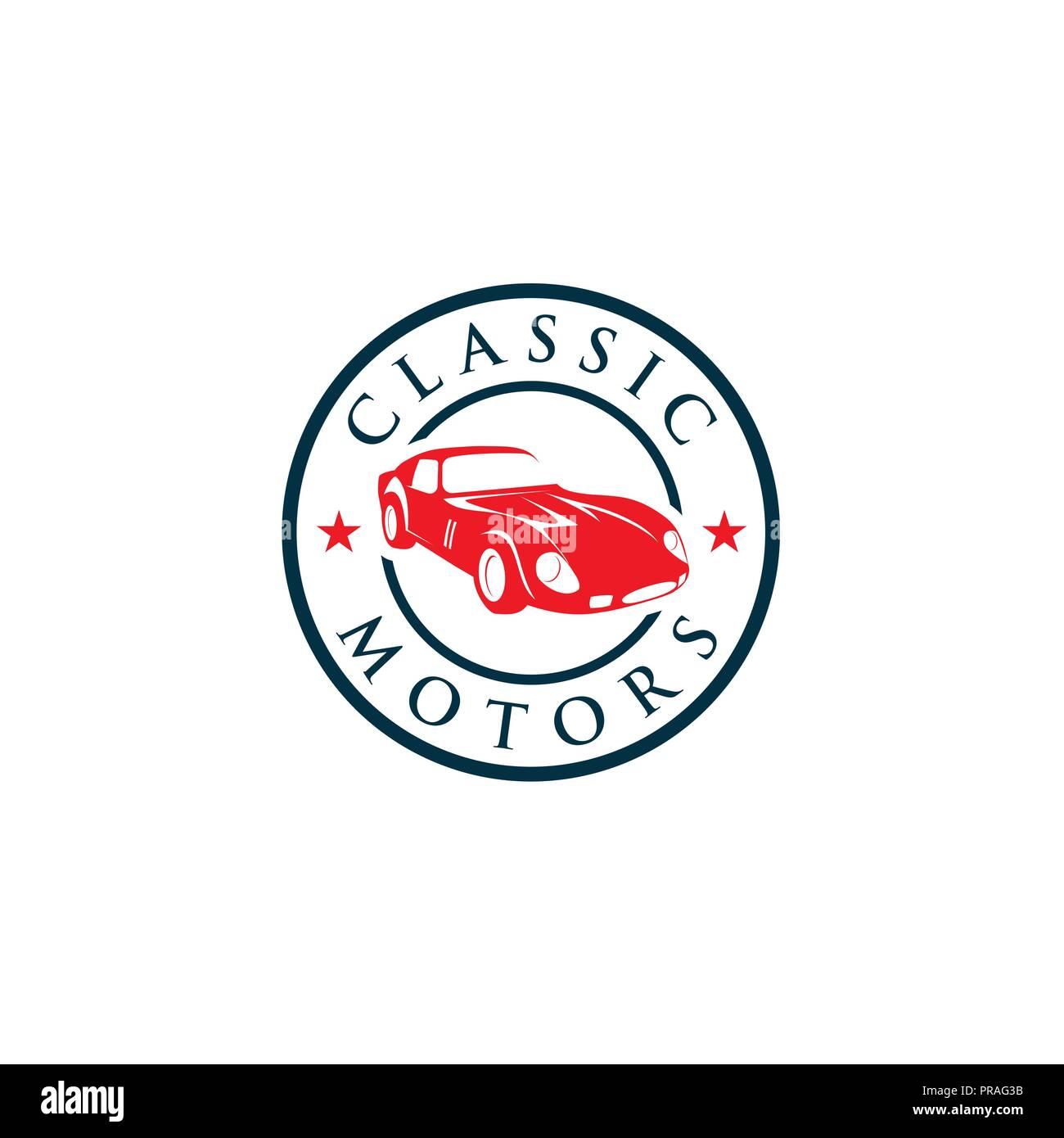 Creative Classic Cars Logo concept design templates - Stock Vector