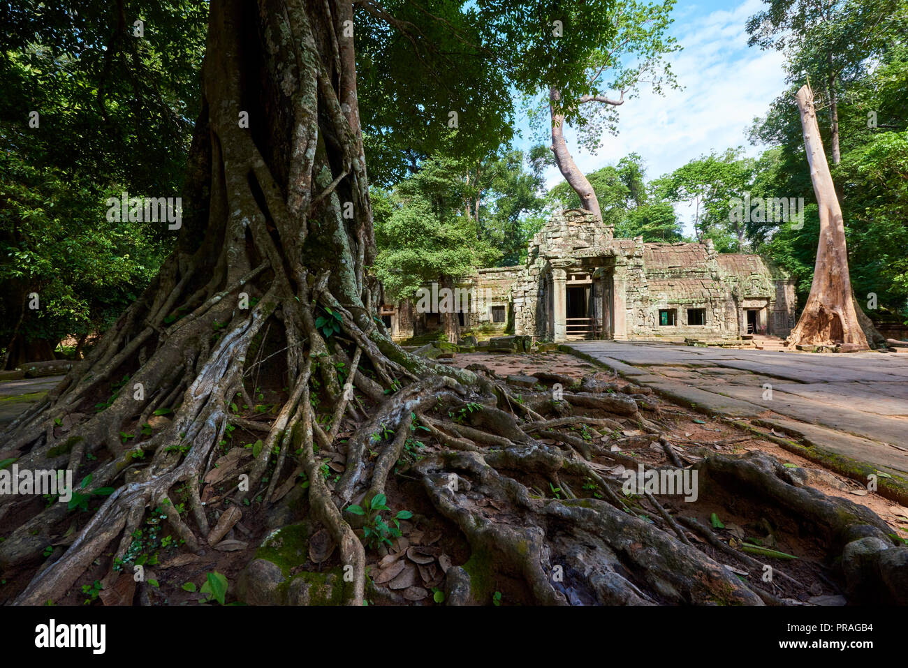 Banteay Kdei ruins in Angkor Wat. The Angkor Wat complex, Built during the Khmer Empire age, located in Siem Reap, Cambodia, is the largest religious  - Stock Image