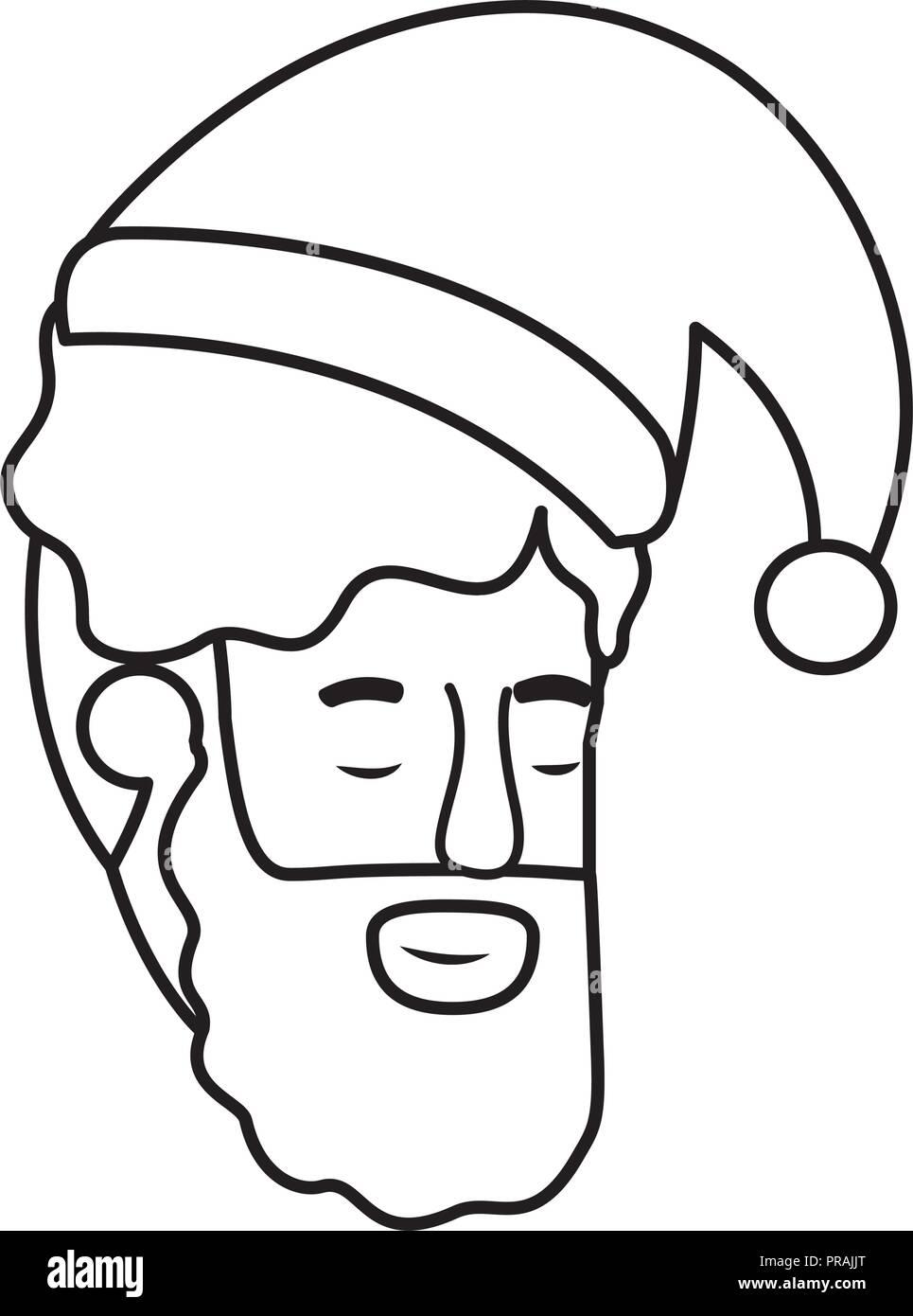 head of man sleeping avatar character - Stock Image