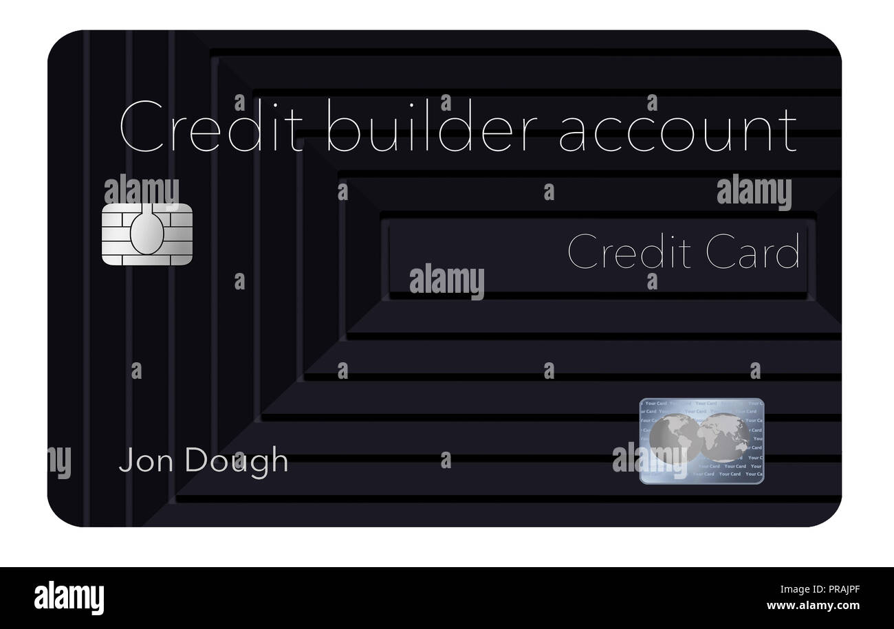 Here is a credit card that will help you rebuild your credit rating. This is a credit builder account credit account. It is a secured card and offers  Stock Photo