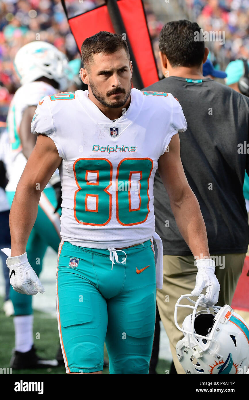 4354ab95c Foxborough, Massachusetts, USA. 30th Sep, 2018. Miami Dolphins wide  receiver Danny