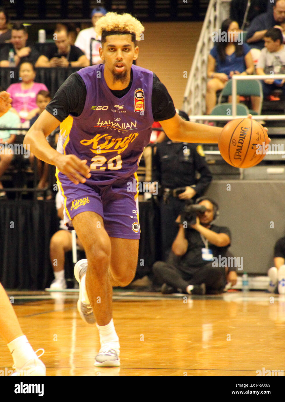 low priced 1356d df272 Honolulu, Hawaii. September 30, 2018 - Sydney Kings guard ...