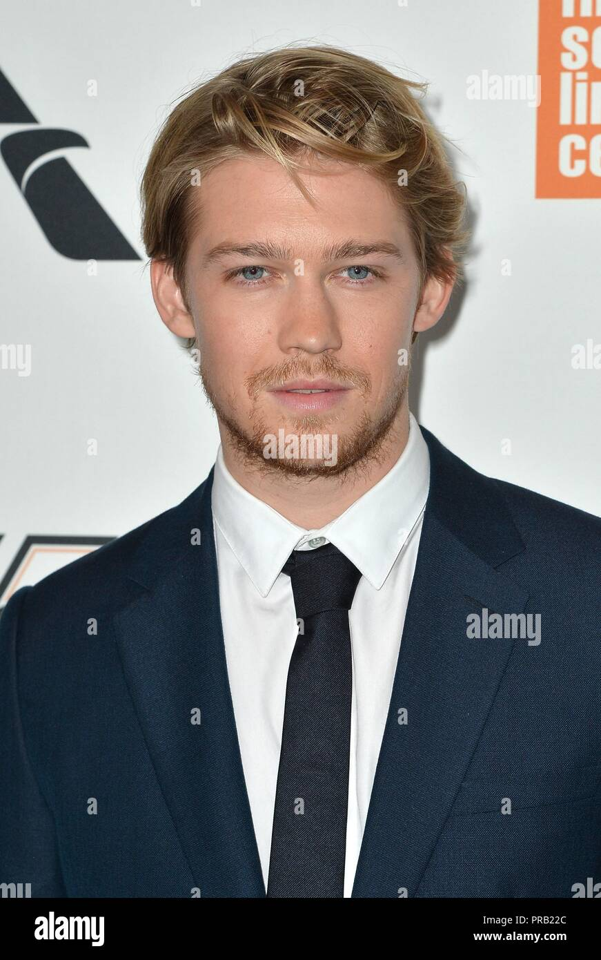 Joe Alwyn at arrivals for THE FAVOURITE Premiere at the New York Film Festival Opening Night, Alice Tully Hall at Lincoln Center, New York, NY September 28, 2018. Photo By: Kristin Callahan/Everett Collection - Stock Image