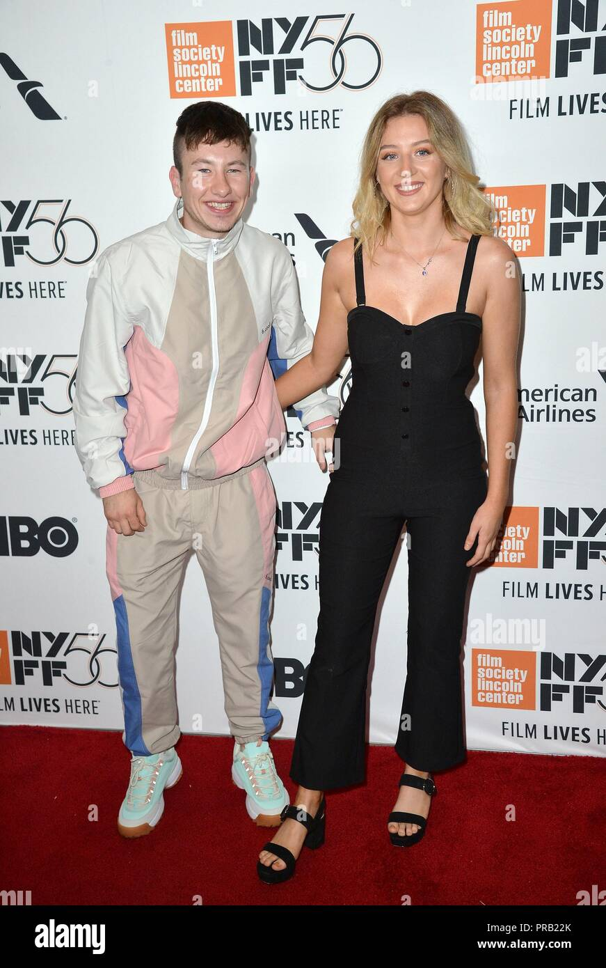 Barry Keoghan at arrivals for THE FAVOURITE Premiere at the New York Film Festival Opening Night, Alice Tully Hall at Lincoln Center, New York, NY September 28, 2018. Photo By: Kristin Callahan/Everett Collection - Stock Image