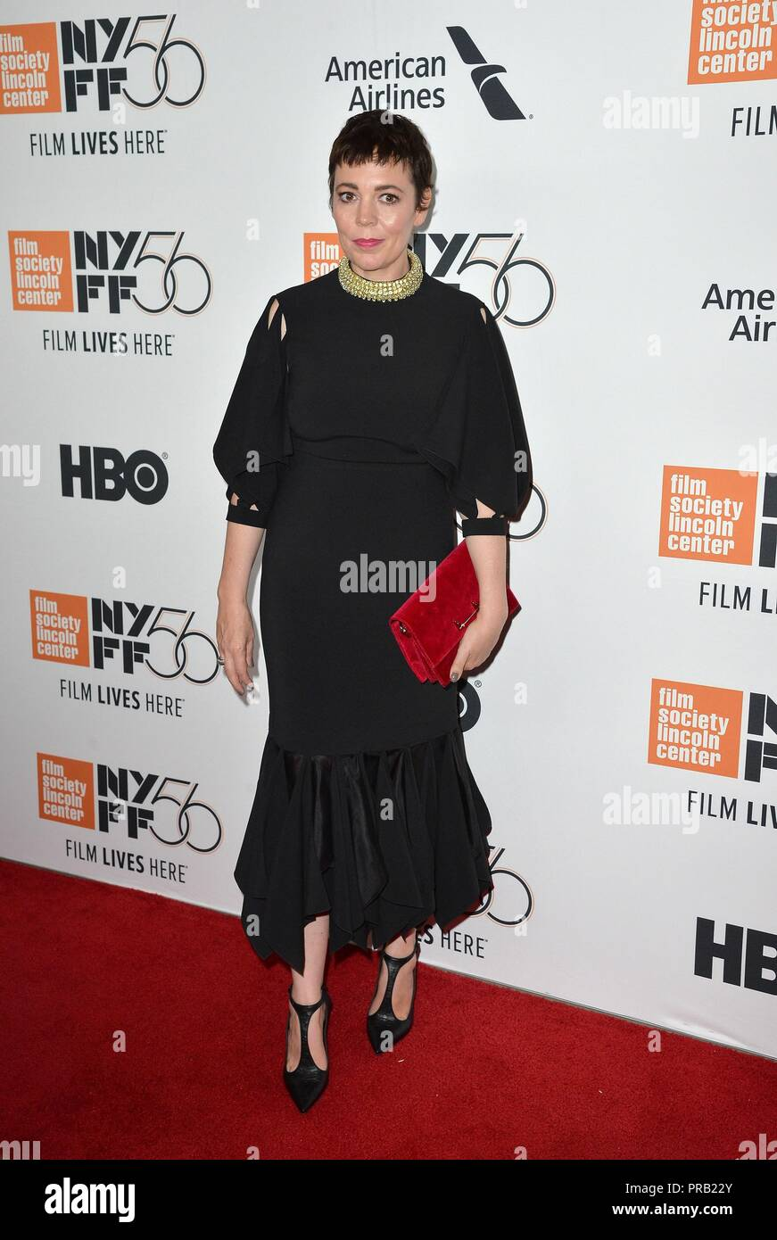 Olivia Colman at arrivals for THE FAVOURITE Premiere at the New York Film Festival Opening Night, Alice Tully Hall at Lincoln Center, New York, NY September 28, 2018. Photo By: Kristin Callahan/Everett Collection - Stock Image