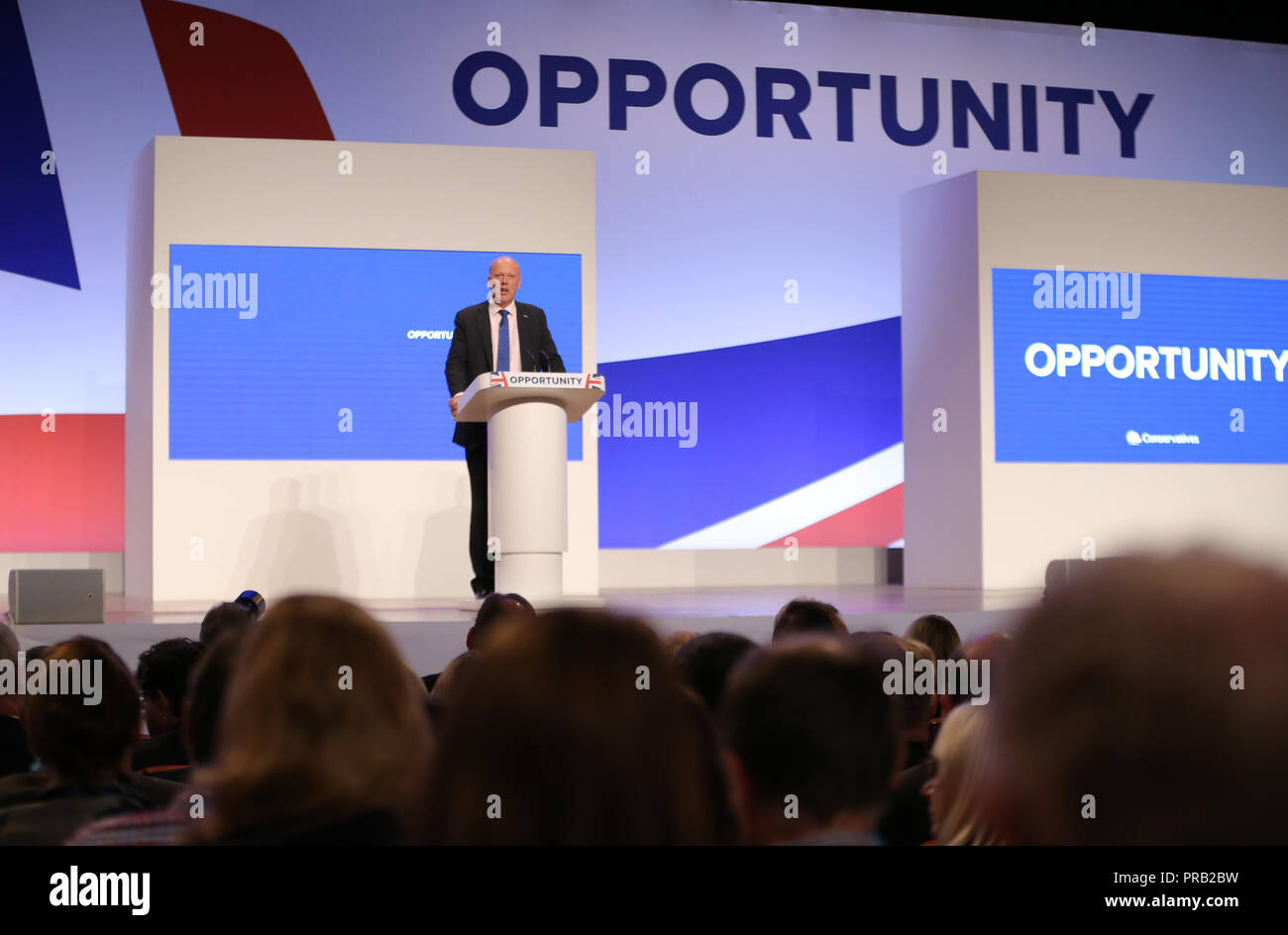 Chris Grayling Mp Secretary Of State For Transport 2018 - Stock Image
