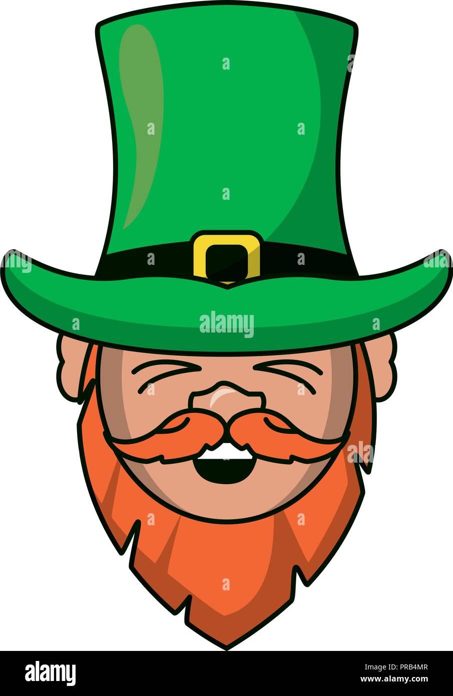 91de54b9914c5 Irish elf face cartoon Stock Vector Art   Illustration