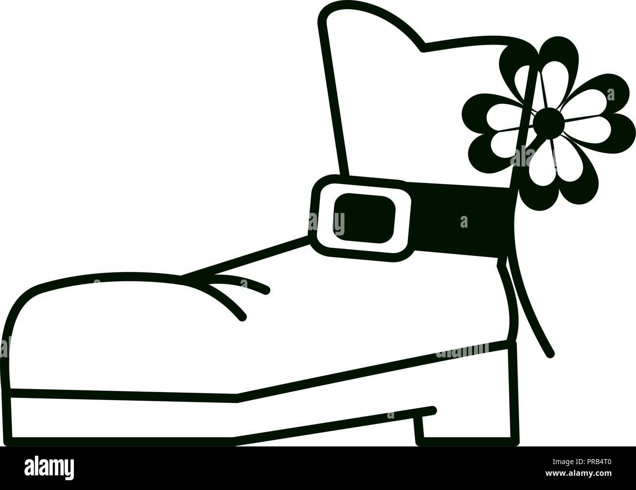 Elf boot isolated - Stock Image