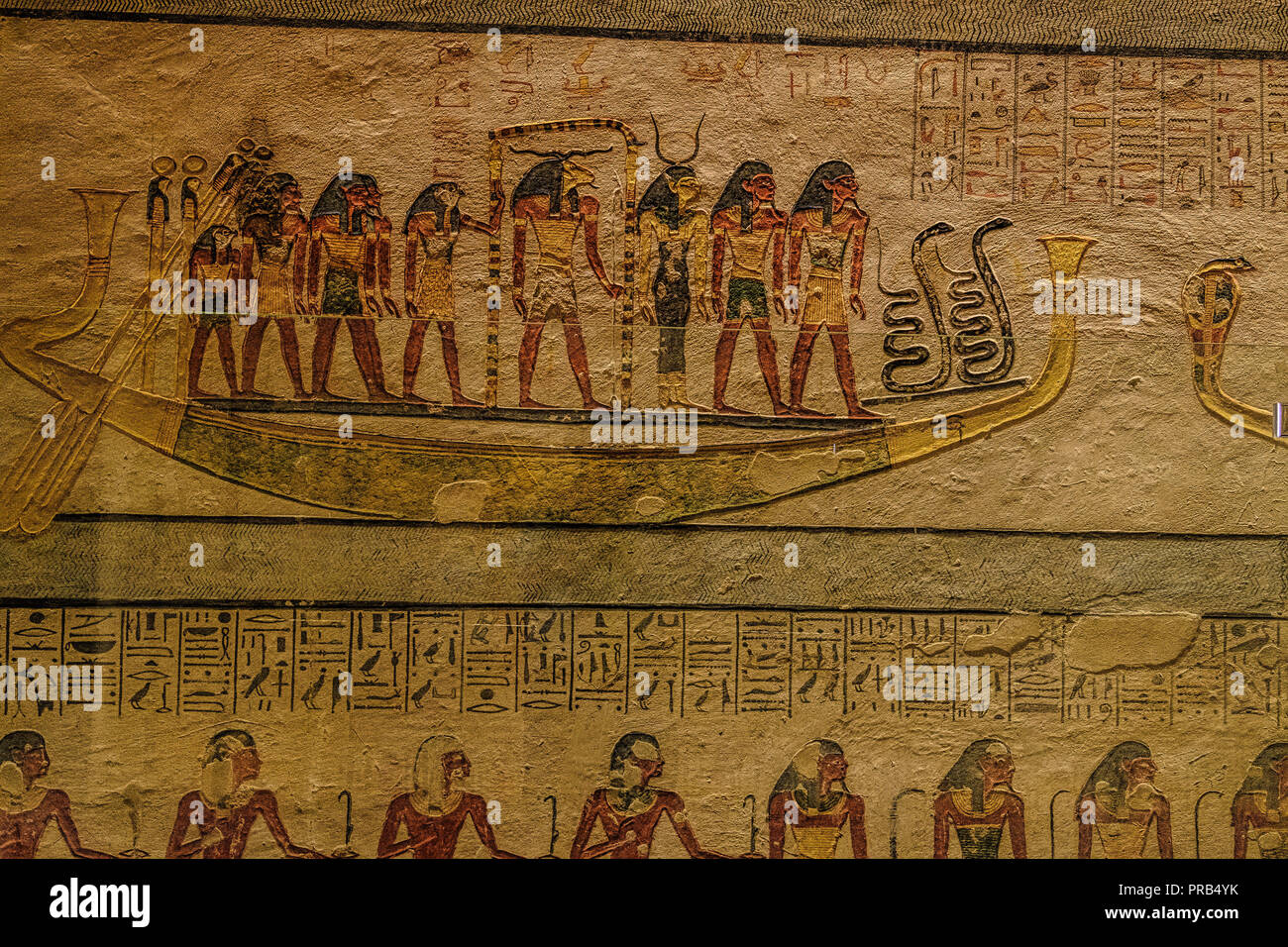 KV 6, Rameses IX burial chamber - Valley of the KIngs, Egypt - Stock Image