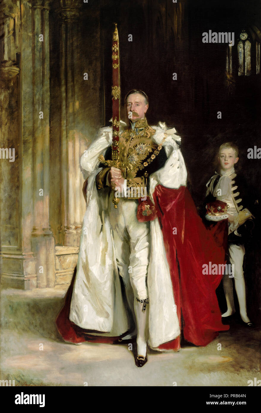 John Singer Sargent, Charles Stewart, Sixth Marquess of Londonderry, Carrying the Great Sword of State at the Coronation of King Edward VII. - Stock Image