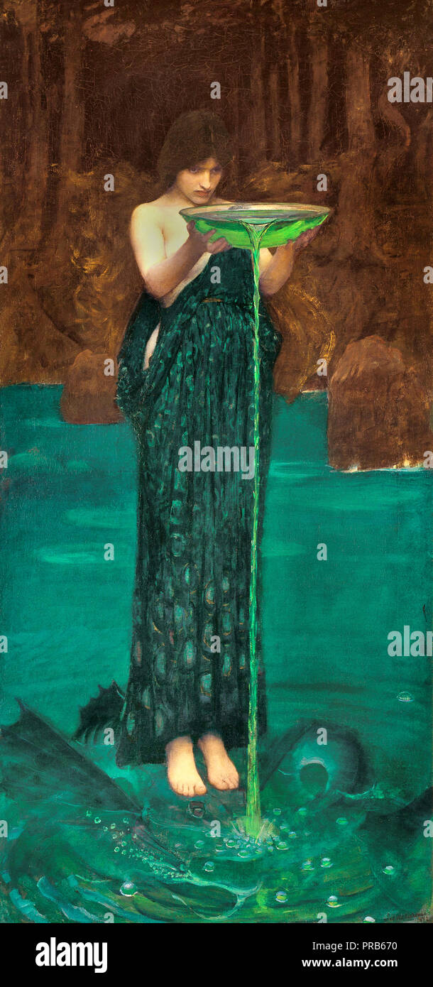 John William Waterhouse, Circe Invidiosa 1892 Oil on canvas, Art Gallery of South Australia. - Stock Image