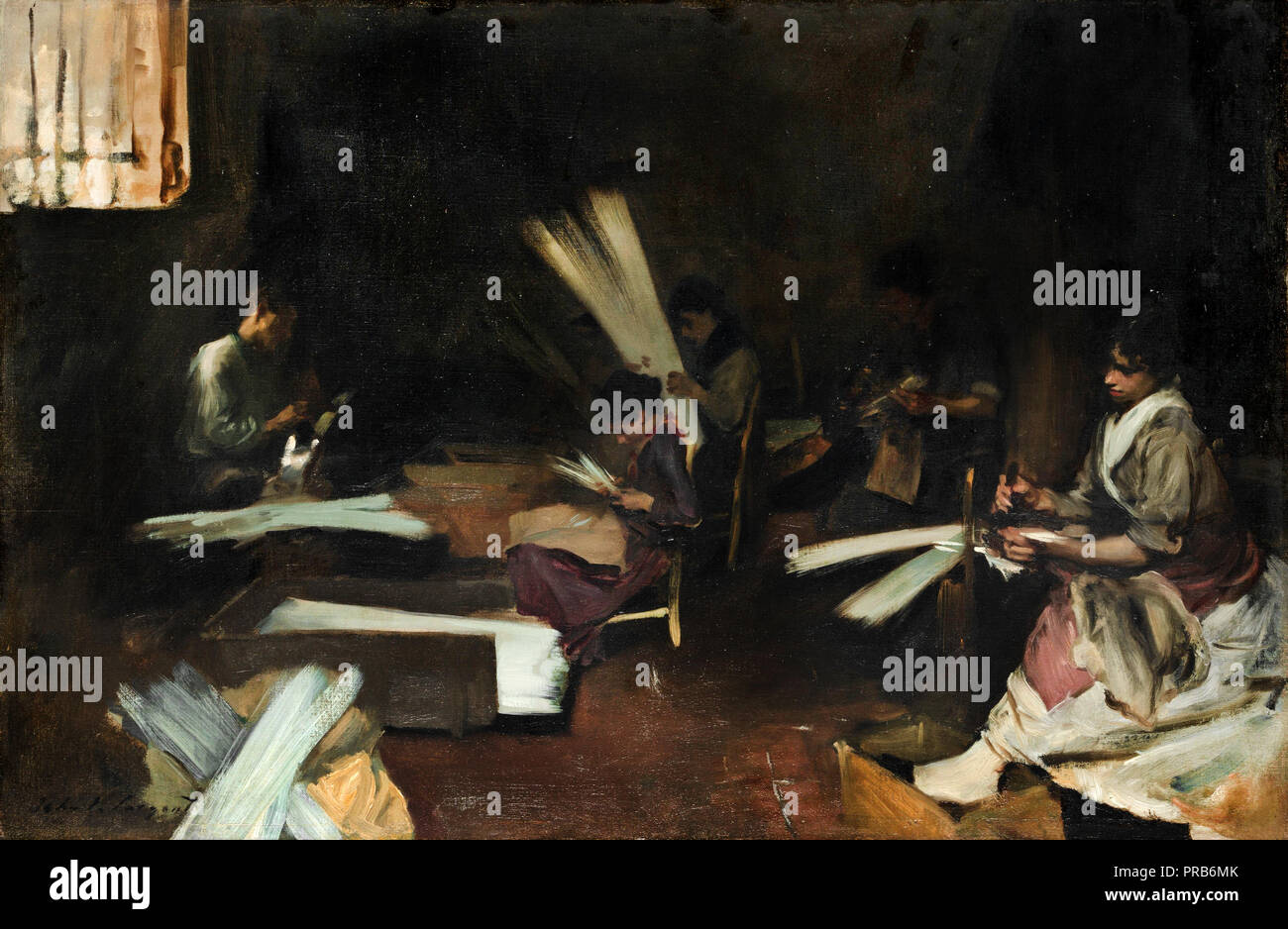 John Singer Sargent, Venetian Glass Workers, Circa 1880-1882, Oil on canvas, Art Institute of Chicago, USA. - Stock Image