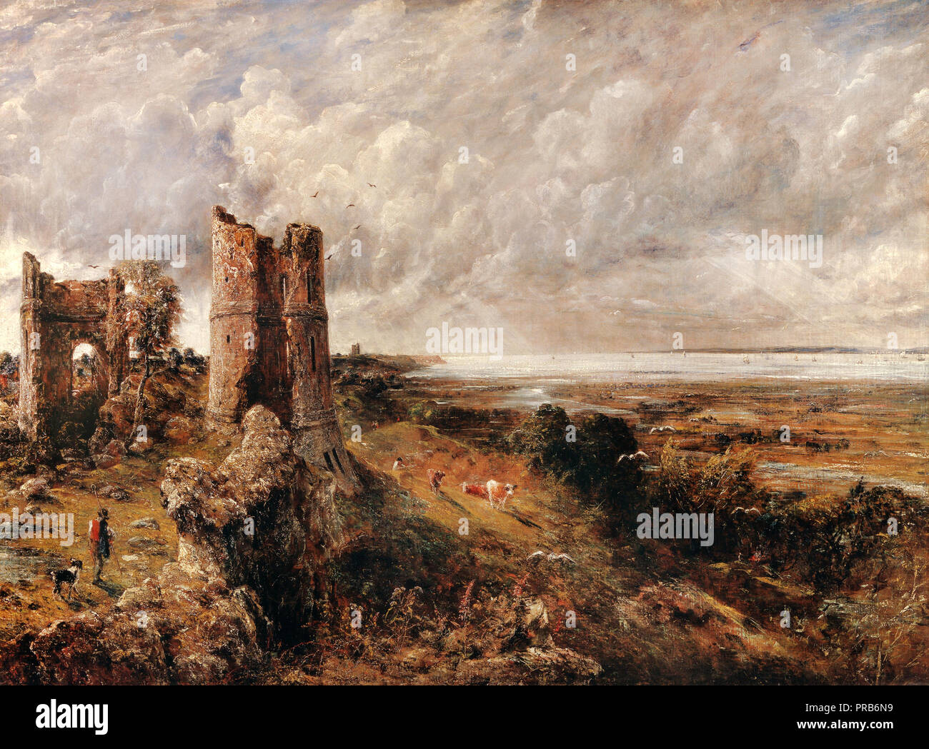 John Constable, Hadleigh Castle, The Mouth of the Thames Morning After a Stormy Night 1829 Oil on canvas, Yale Center for British Art, New Haven, USA - Stock Image