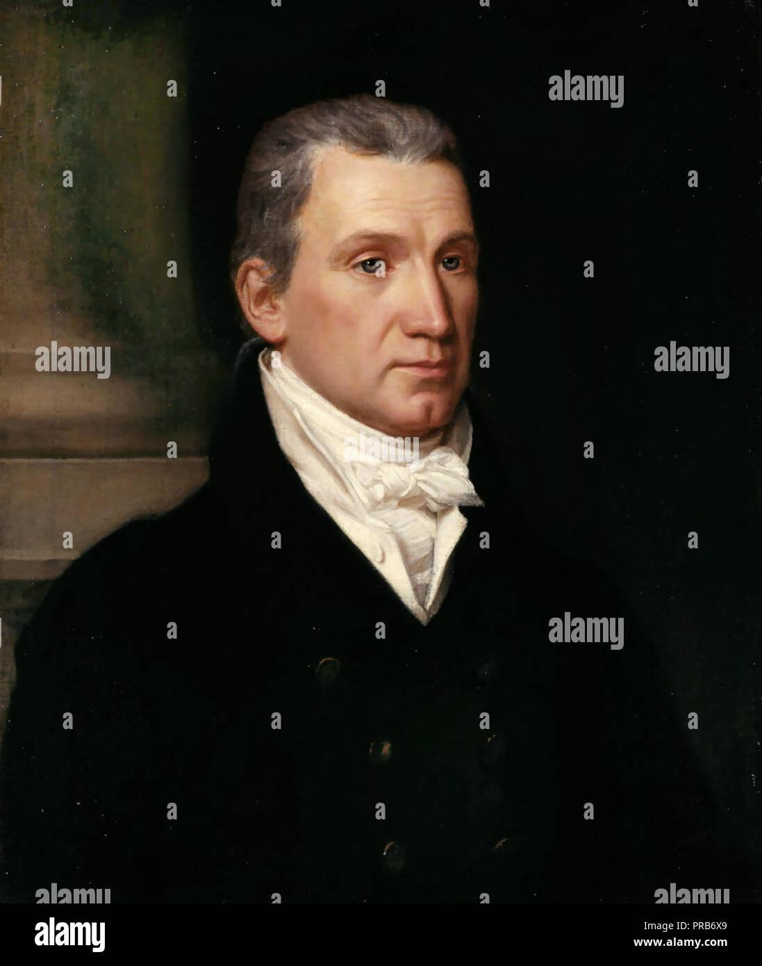 John Vanderlyn, James Monroe 1816 Oil on canvas, National Portrait Gallery, Washington, D.C., USA. Stock Photo