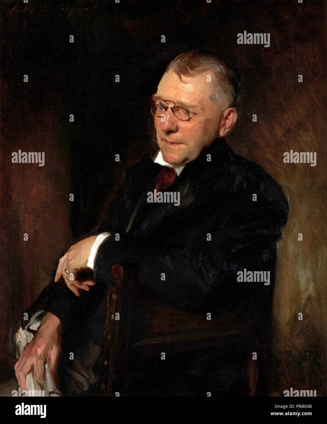 John Singer Sargent, Portrait of James Whitcomb Riley 1903 Oil on canvas, Indianapolis Museum of Art, USA. - Stock Image