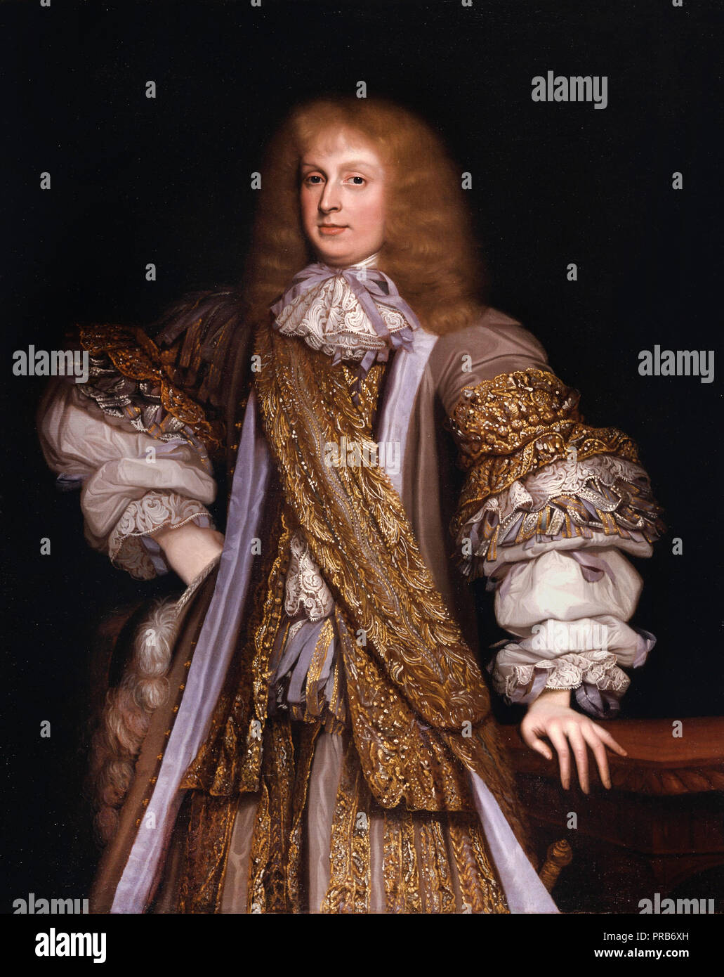 John Michael Wright, Sir John Corbet of Adderley, Circa 1676 Oil on canvas, Yale Center for British Art, New Haven, USA. - Stock Image