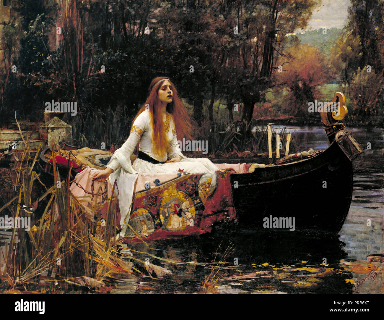 John William Waterhouse, The Lady of Shalott 1888 Oil on canvas, Tate Britain, London, England. - Stock Image
