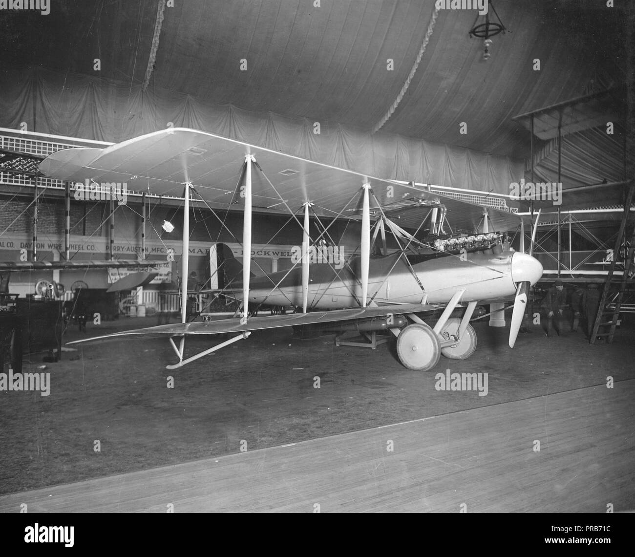 1919 - G-2 combat plane revised and known as the 'Shark'. On exhibition at Aero Show, New York - Stock Image