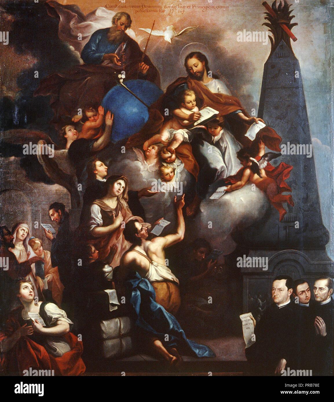Jose de Alcibar, The Ministry of Saint Joseph, Circa 1771 Oil on canvas, Museo Nacional de Arte, Mexico City, Mexico. Stock Photo