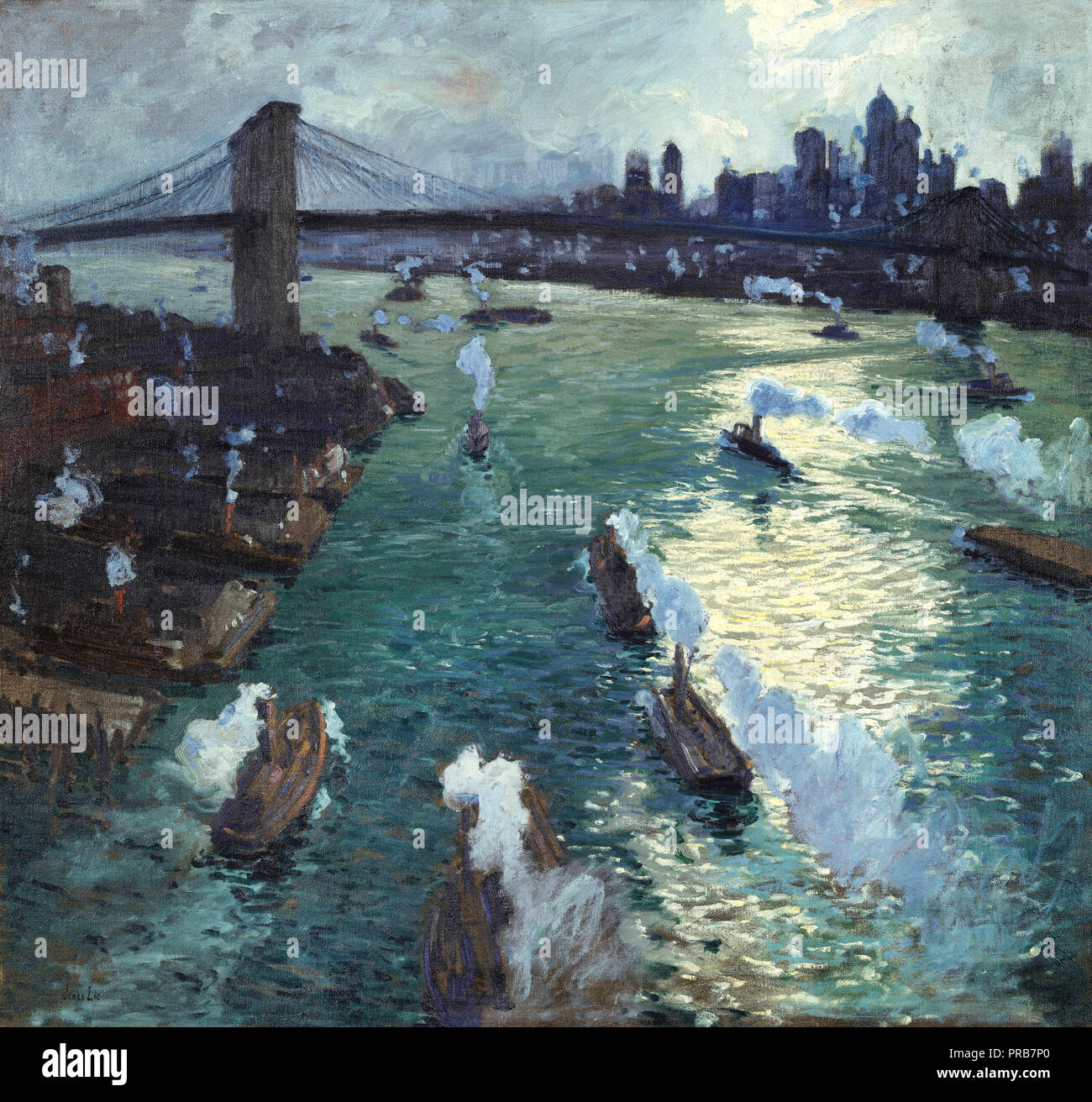 Jonas Lie, Path of Gold 1914 Oil on canvas, High Museum of Art, USA. - Stock Image