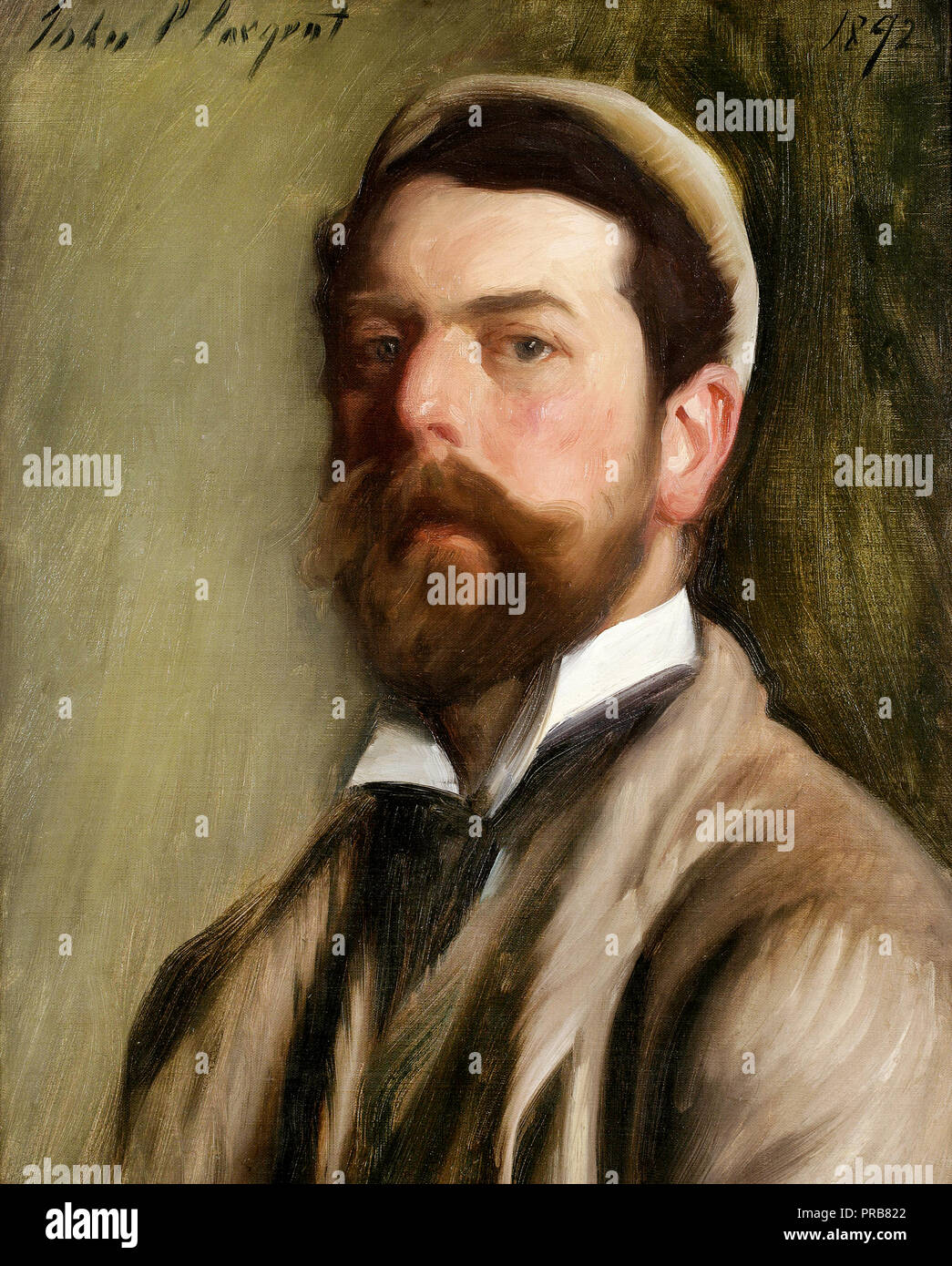 John Singer Sargent, Self-portrait 1892 Oil on canvas, National Academy Museum and School, New York, USA. - Stock Image