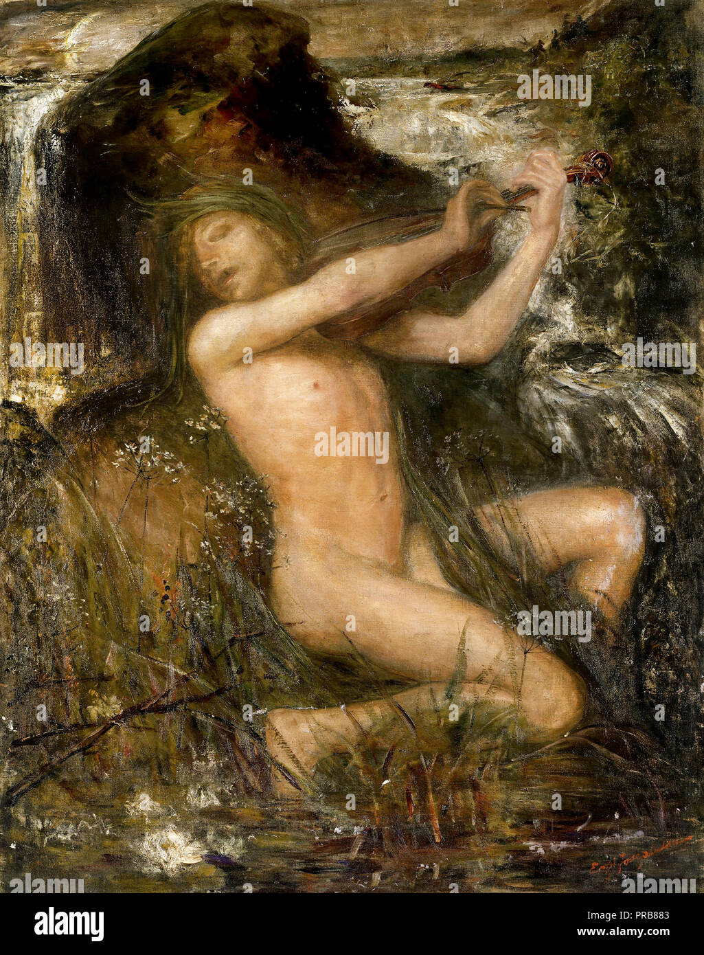 Ernst Josephson, The Water Sprite 1882 Oil on canvas, Nationalmuseum, Stockholm, Sweden. - Stock Image