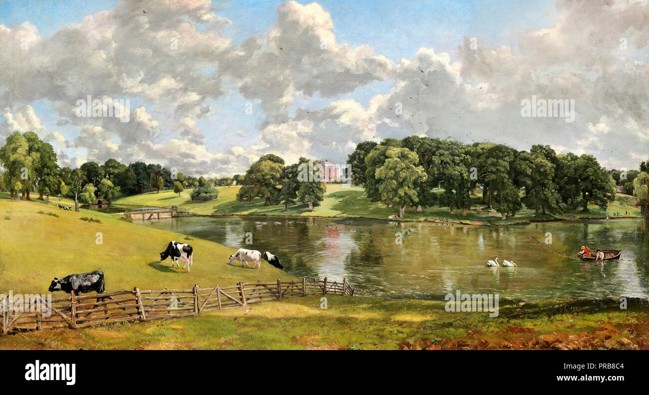 John Constable, Wivenhoe Park, Essex 1816 Oil on canvas, National Gallery of Art, Washington, D.C., USA. Stock Photo